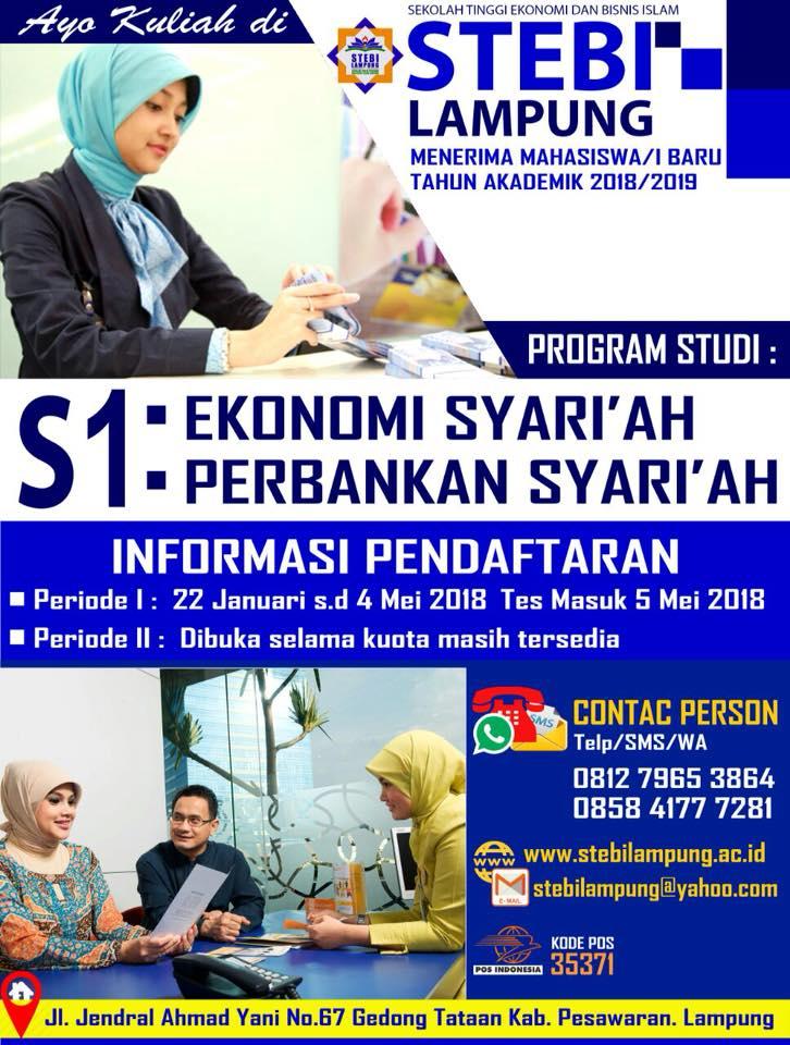 Penerimaan Mahasiswa/i Baru STEBI Lampung TA 2018/2019